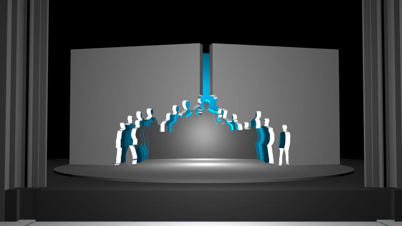 Der Tunnel Bühnenraum-Entwurf Juni 2015